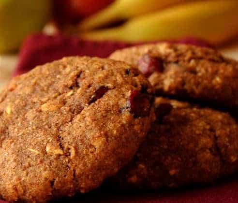 pumpkin spice cranberry cookie