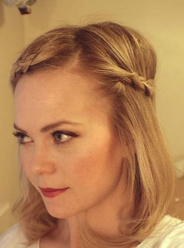 bohemian side braids