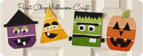 Paint chip Halloween