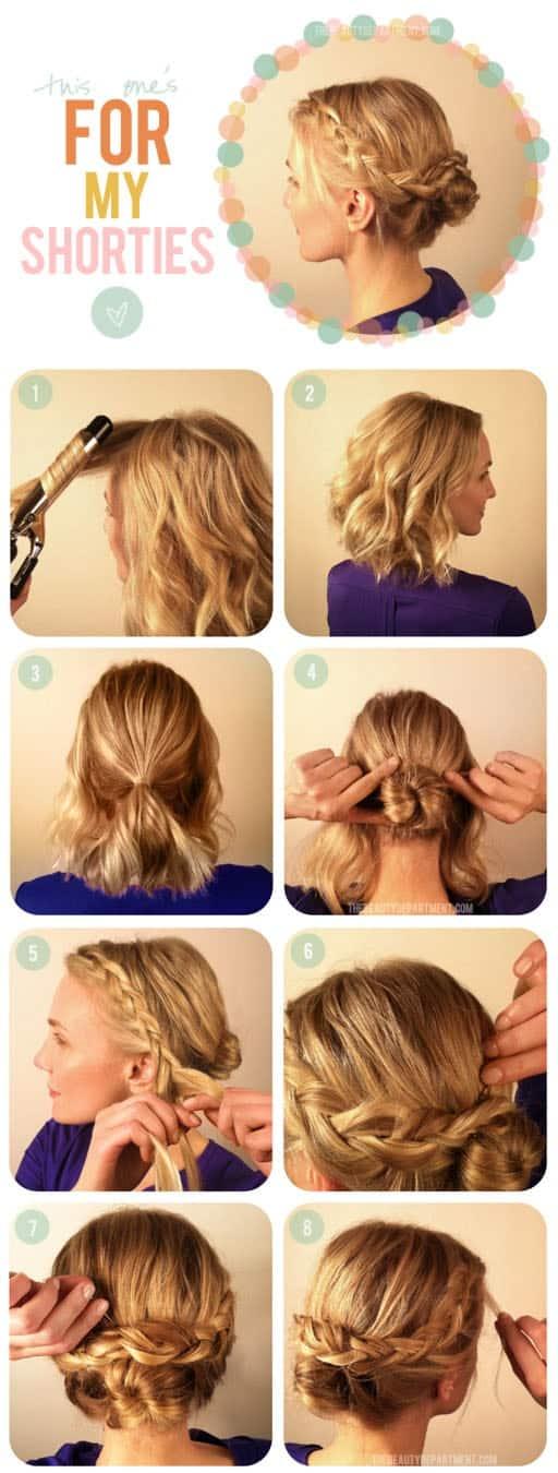 hot cross bun hair