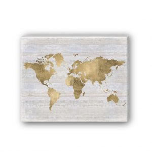 Gold wall art map