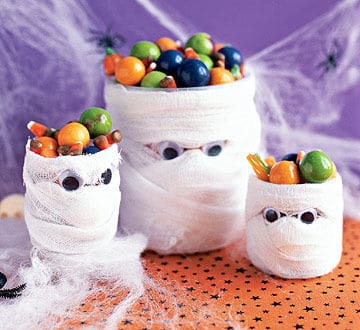 Mummy Halloween Candy Holder