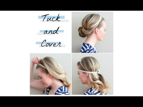 tuck and cover hair style