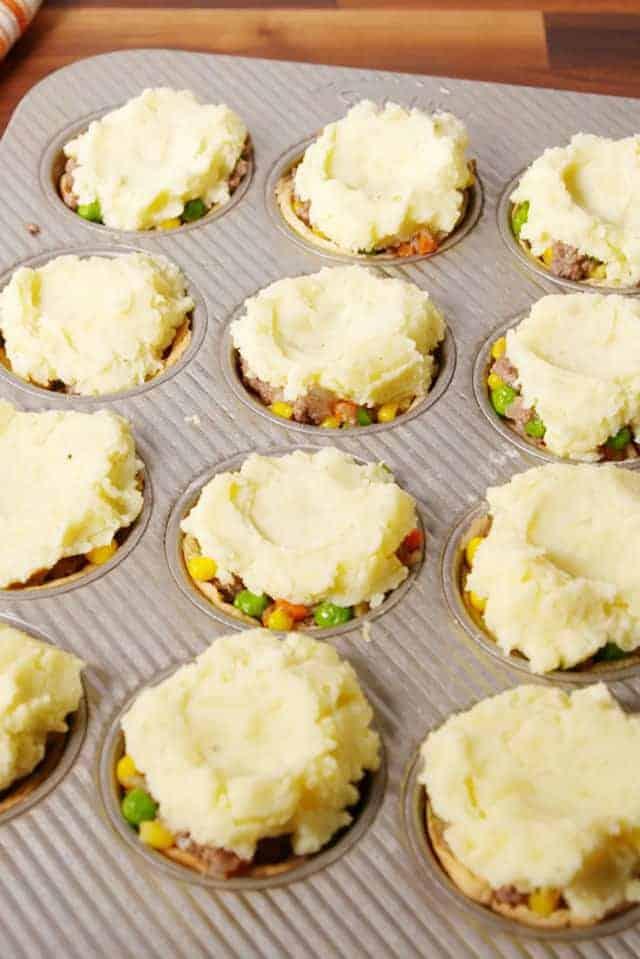 muffin tin shepards pie