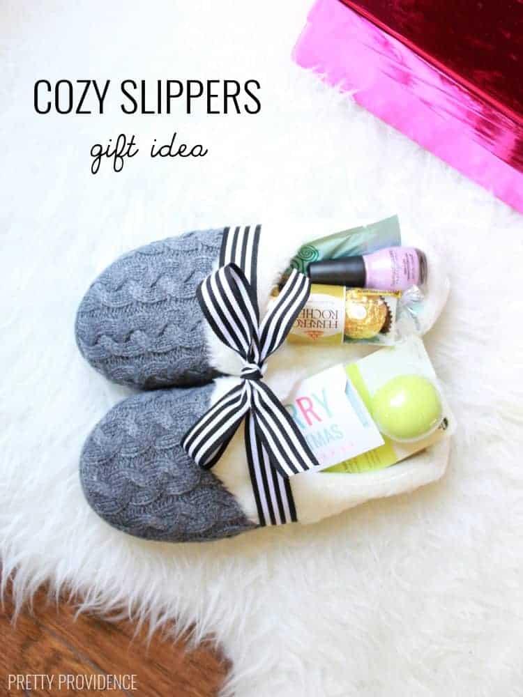 Slippers gift, teacher gift, diy Christmas gifts