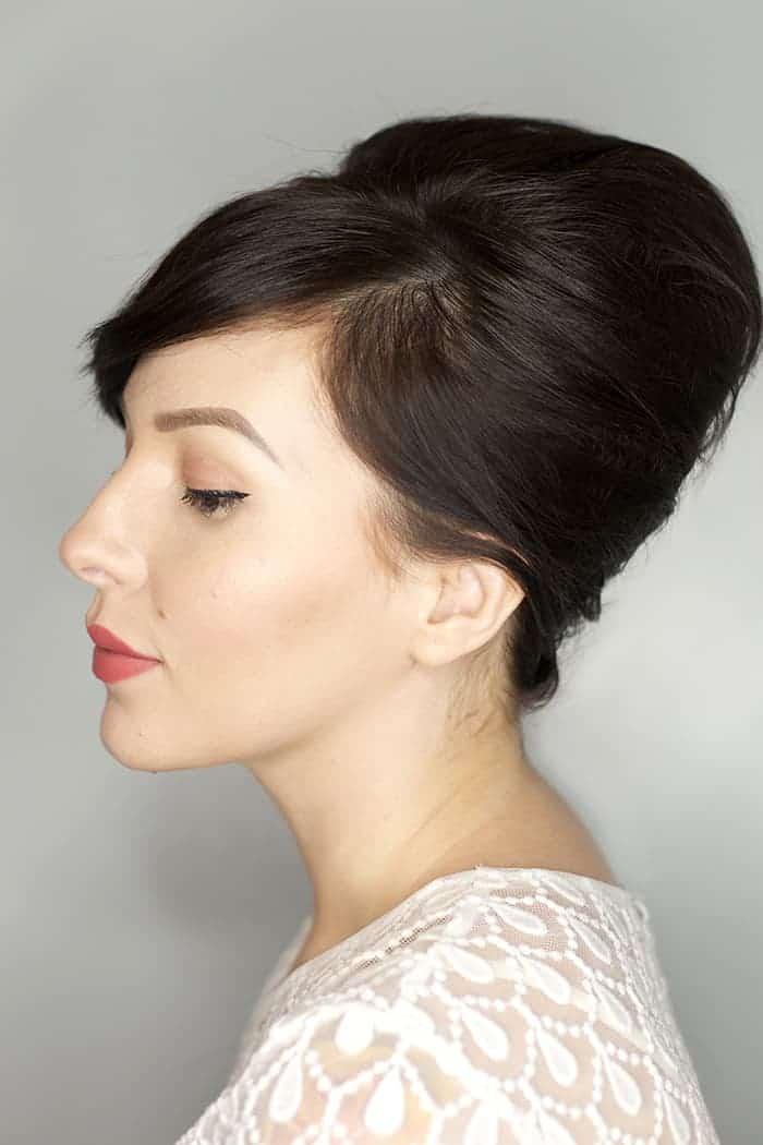 medium length hair up-do