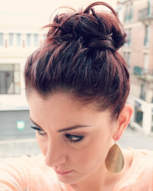 medium length hair up-do