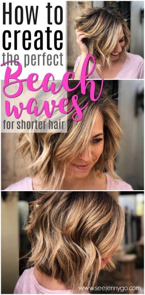 Easy Beach Waves For Short Hair See Mama Go