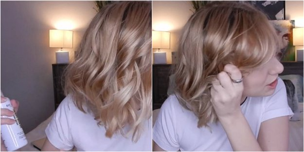 easy beach waves for short hair, flat iron curls, curling iron, tips, tricks, hacks, beauty advice, styling tips, tutorials