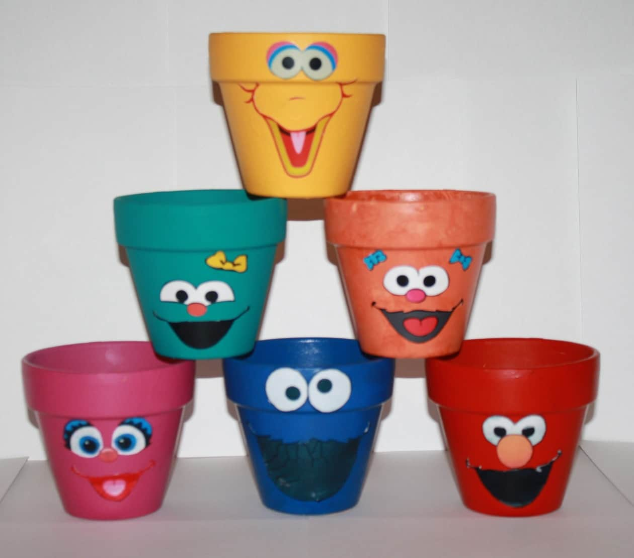 sesame street clay pot