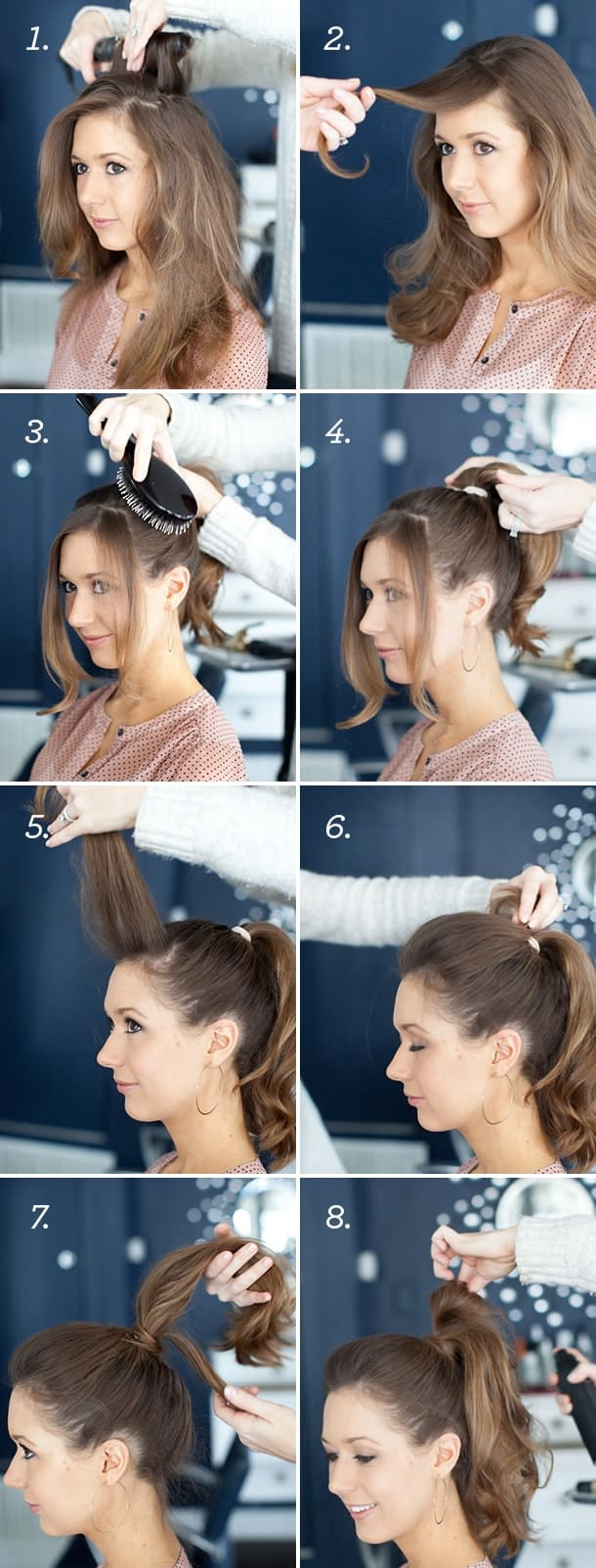 effortless high ponytail