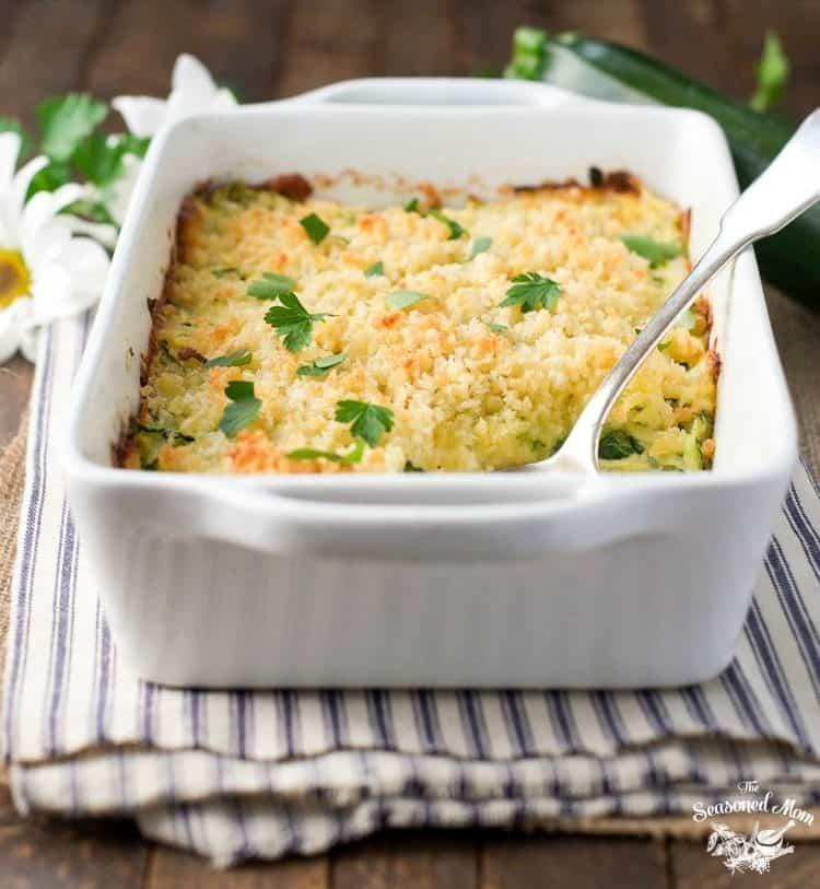 Garlic-Parmesan-Zucchini-Casserole