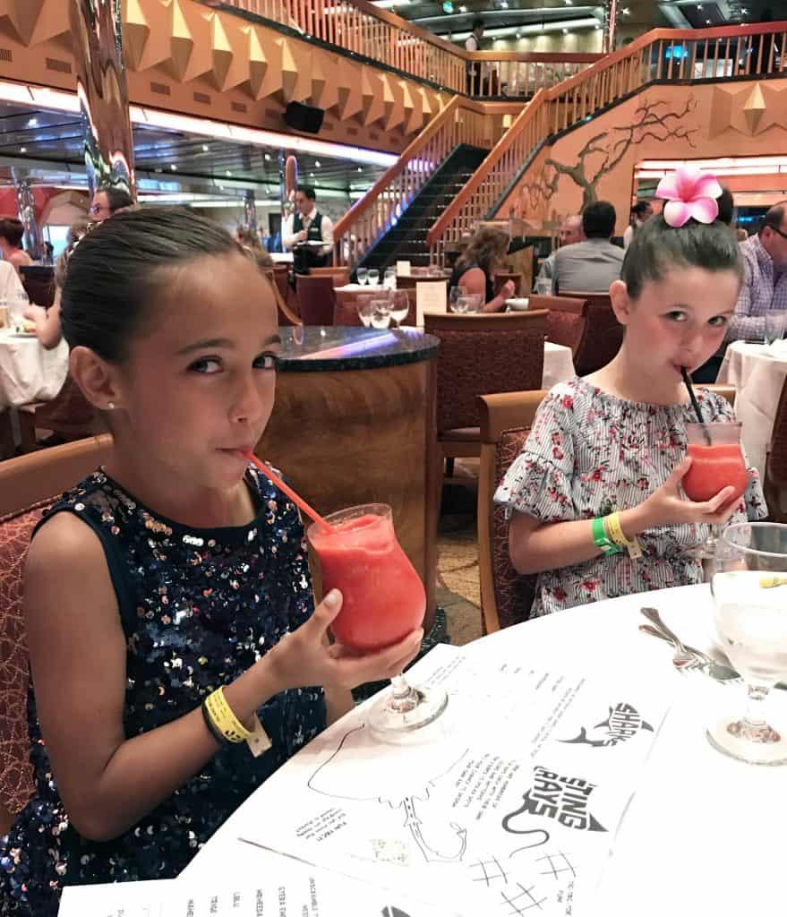 carnival cruise formal dinner