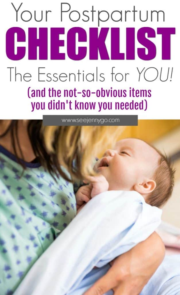 postpartum care essentials - all your needs and ist for new mom items after you give birth #postpartum #pregnancy #baby #birth #afterbirth #essentials #tips
