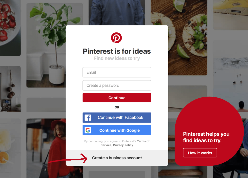 setting up pinterest for a blog