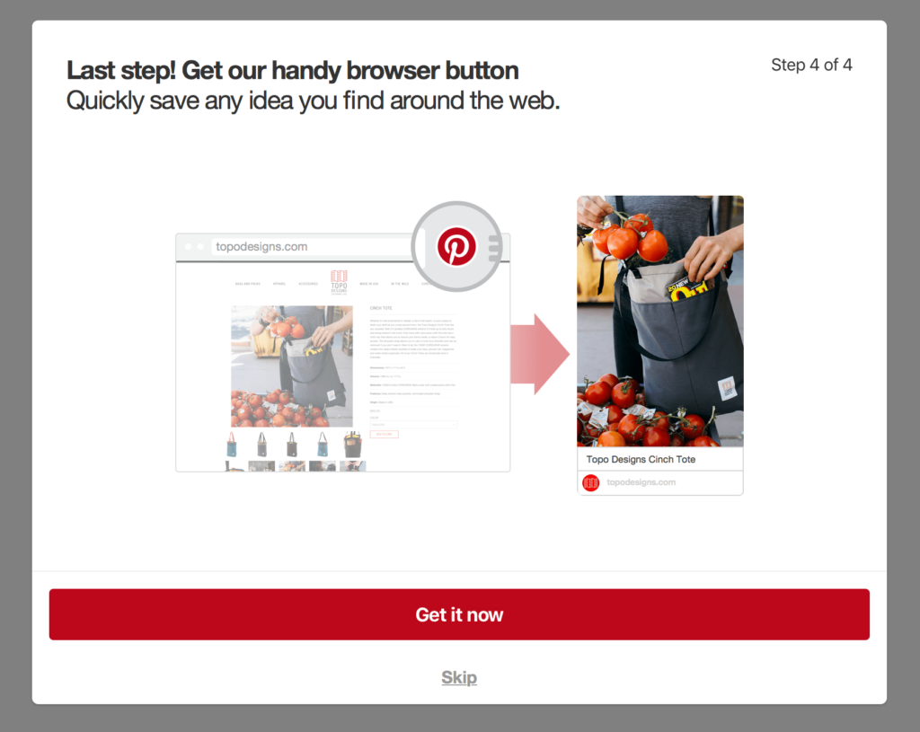 create a pinterest account for blogs